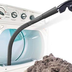 Holikme Dryer Vent Cleaner Kit Vacuum Hose Attachment Brush, Lint Remover, Dryer Vent Vacuum Hose, Black