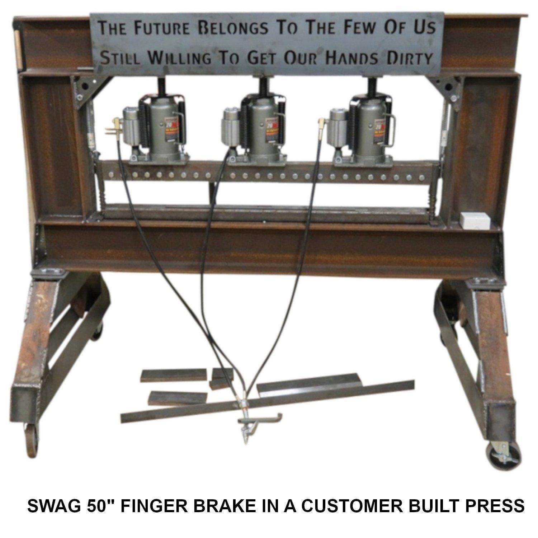 SWAG Off Road 50'' Finger Press Brake DIY Builder Kit with Adjustable Back Stop. by SWAG Offroad (Image #4)