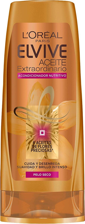 L'Oréal Paris - Elvive Acondicionador Nutritivo Aceite Extraordinario para Pelo Seco, 300 ml