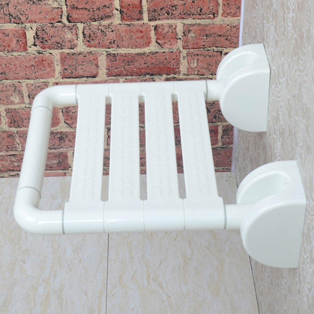 TH シャワーチェア 折り畳み式安全バスルームシートノンスリップシャワースツールスイベルチェア 風呂椅子 ( 色 : 白 )  白 B07CB4B6K5