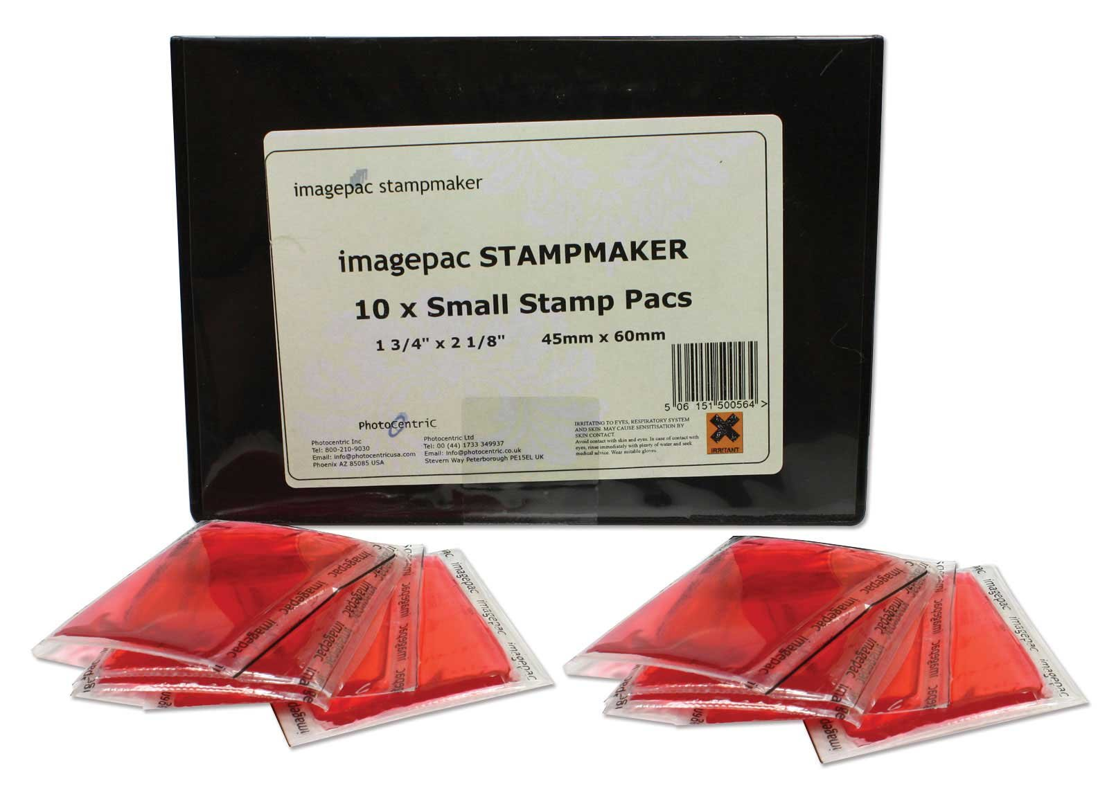 Imagepac Stamp Pack, Small 1-3/4 x 2-1/8'' Size, 10 Pack