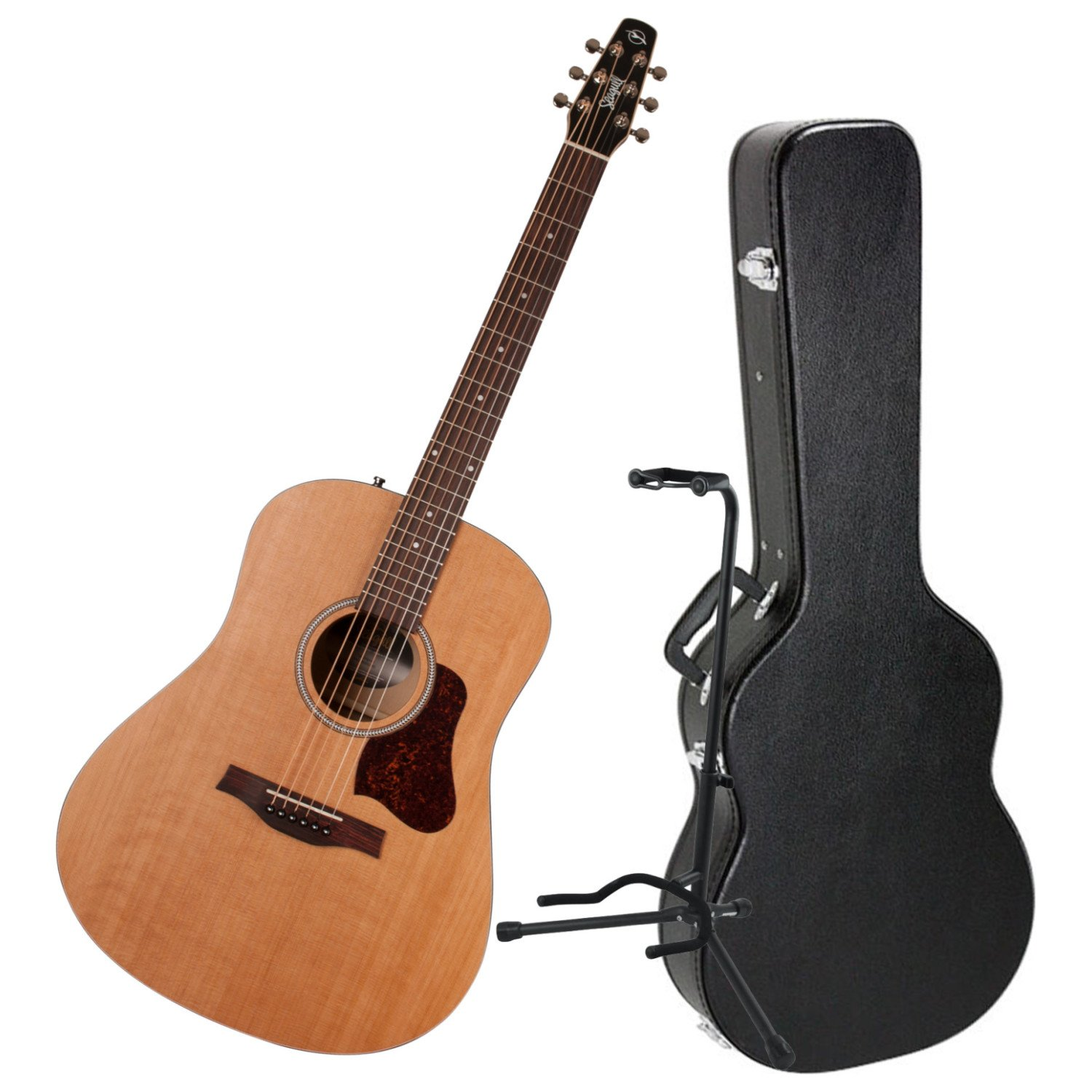 Seagull S6 ''The Original'' Acoustic Guitar w/Dreadnought Hardshell Case and Guitar Stand