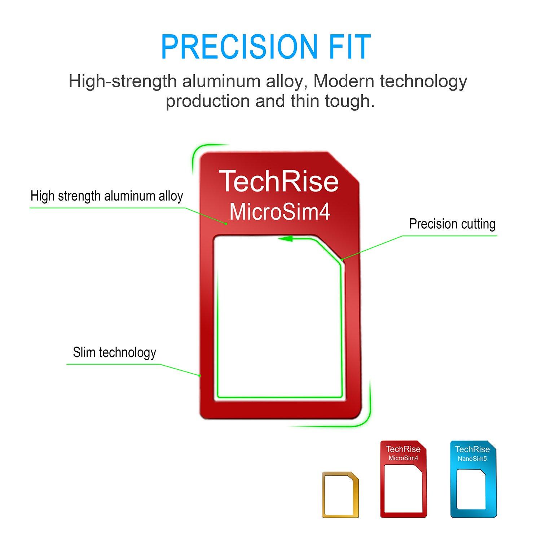 TechRise 5 in 1 Nano Micro Standard SIM Karten Card Amazon