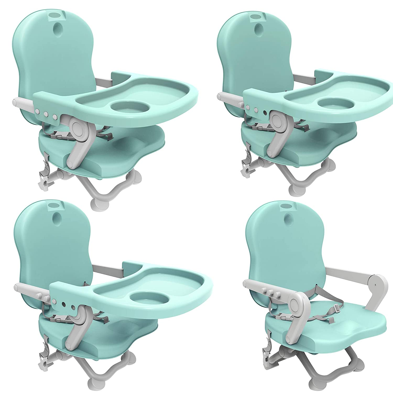 Asiento elevador para beb/é Material: PP Todeco Alto: 38//42//46//50 cm Silla port/átil para alimentaci/ón de beb/és Naranja