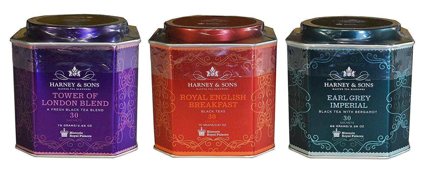 Harney & Sons Historic Royal Palaces Black Tea Collection Set of 3 - Tower of London, Royal English Breakfast, & Earl Grey Imperial by Harney & Sons
