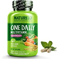 NATURELO One Daily Multivitamin for Women 50+ (Iron Free) - Menopause Support for Women Over 50 - Whole Food Supplement…
