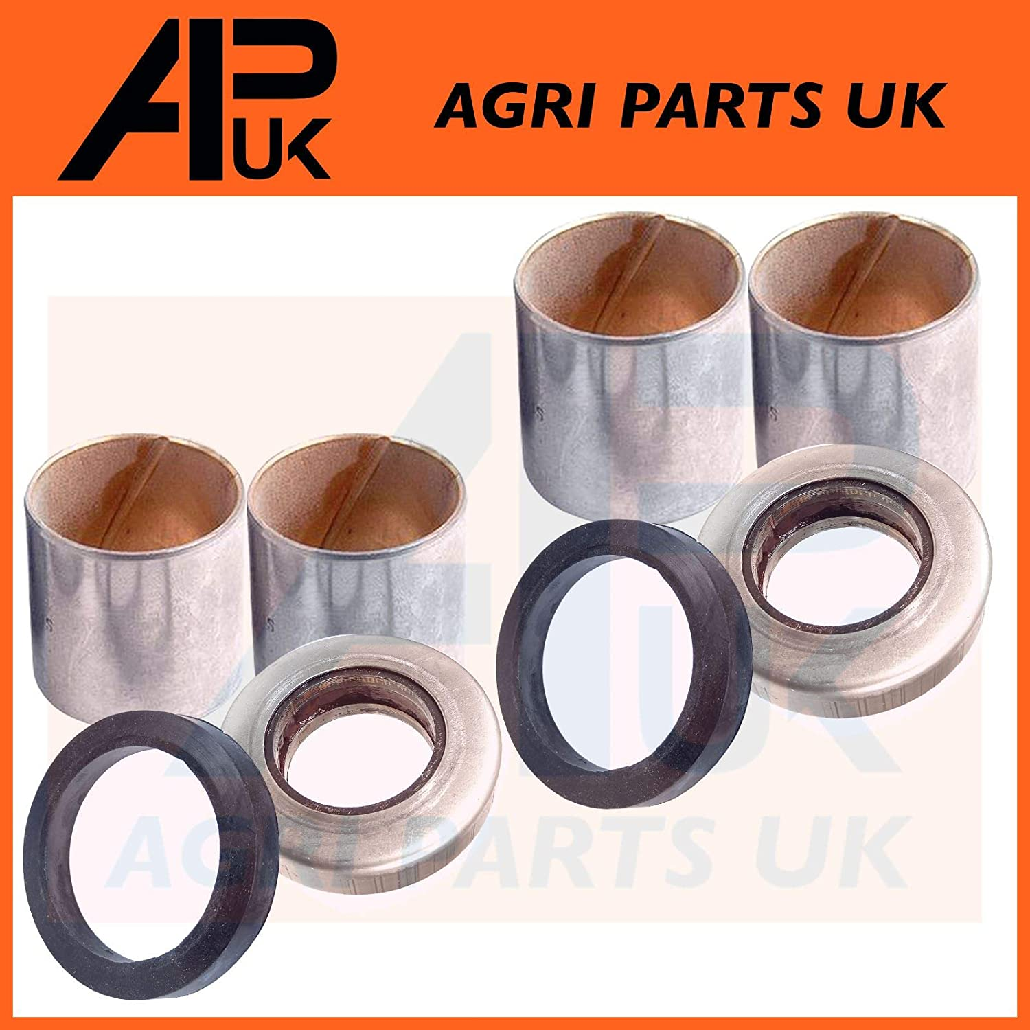 Spindle Thrust Stub Axle Kingpin Repair Kit compatible with Fordson Major Power Super Tractor