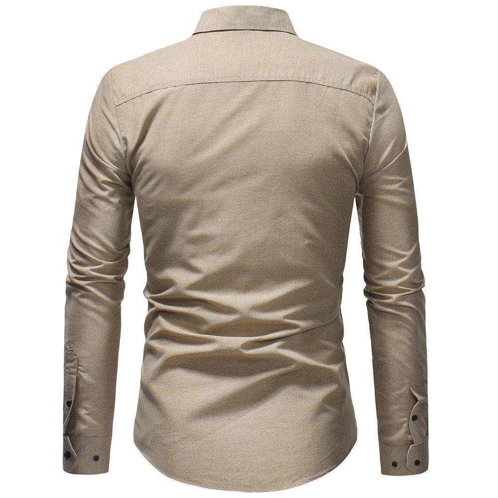 Blusa de Manga Larga para Hombre con Camisa de Manga Larga y Corte ...