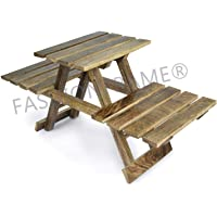 FASHIONFRAME® Wooden Multipurpose Folding Rack/Plant Stand with 3 Decks/Living Room Side Stand/Wooden Stool/Flower Pot Stand/Vase Stand
