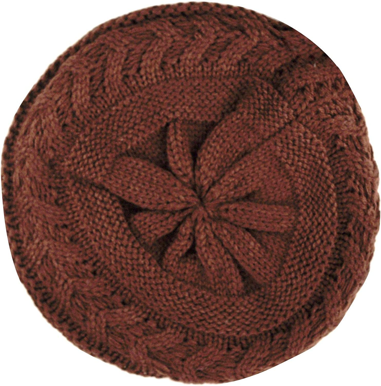 D/&Y Womens Solid Color Double Layer Knit Beanie Beret Hat