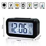 HDE Digital Alarm Clock with Extra Large LCD