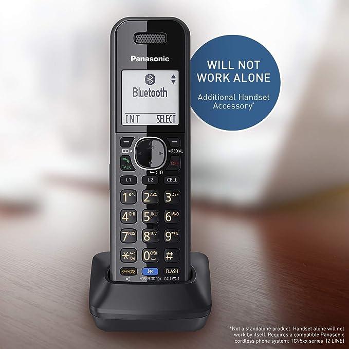 Amazon Com Panasonic Additional Handset For 2 Line Cordless Phone System Long Range Dect 6 0 Kx Tg95xx Series Business Telephones Kx Tga950b Black Electronics