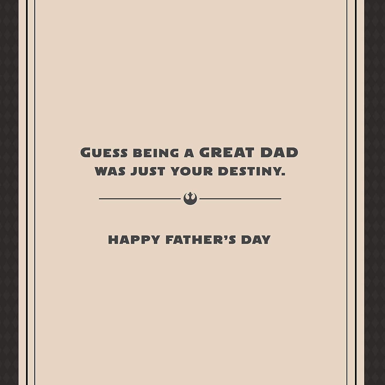 Hallmark Star Wars Fathers Day Card for Dad Luke Skywalker Lenticular Motion