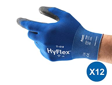 3 Pairs Ansell HyFlex gloves size 10 11-618 LD high flex
