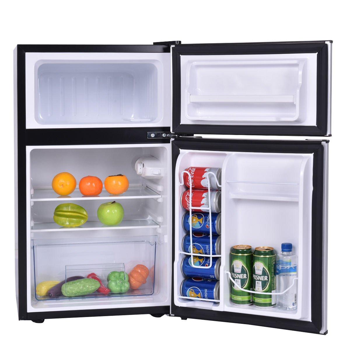 Costway 2 Door Compact Refrigerator Freezer Image 3