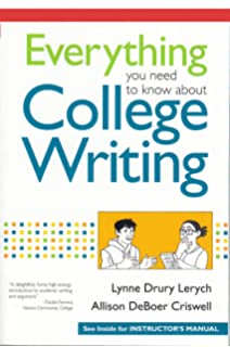 Amazon everything you need to know about college writing everything you need to know about college writing instructor edition fandeluxe Gallery
