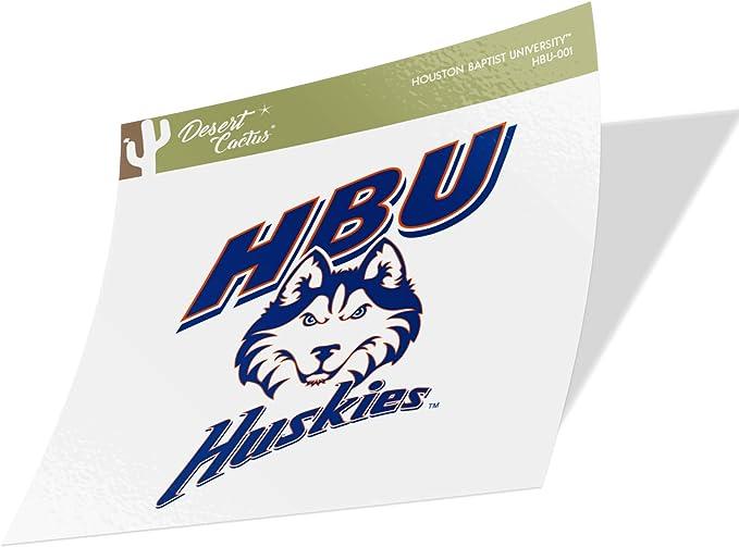 Type 1-1 Sheet Houston Baptist University HBU Huskies NCAA Sticker Vinyl Decal Laptop Water Bottle Car Scrapbook