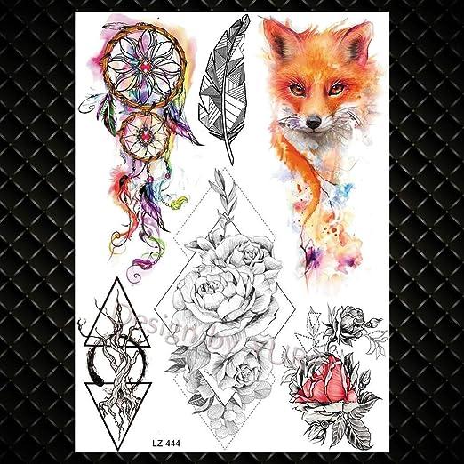 Zhuhuimin Engomada del Tatuaje niña de Las Flores Mandala niñas ...