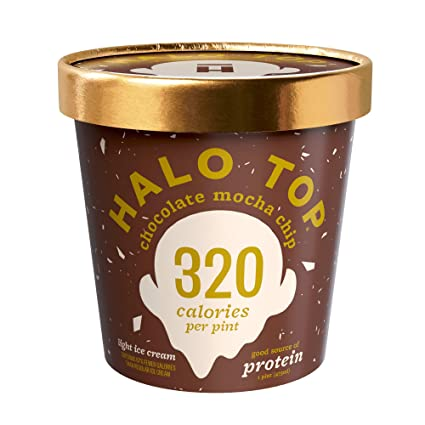 Halo Top, Chip de chocolate Mocha helado, pinta (4 unidades ...