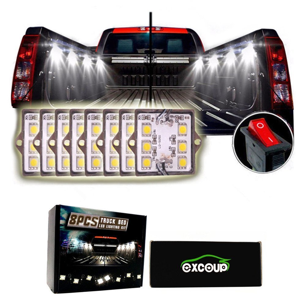 LED Lights for Truck Bed LED Lighting Kit Pickup Bed Lights with 48 Super Bright SMD LEDs Waterproof by EXCOUP