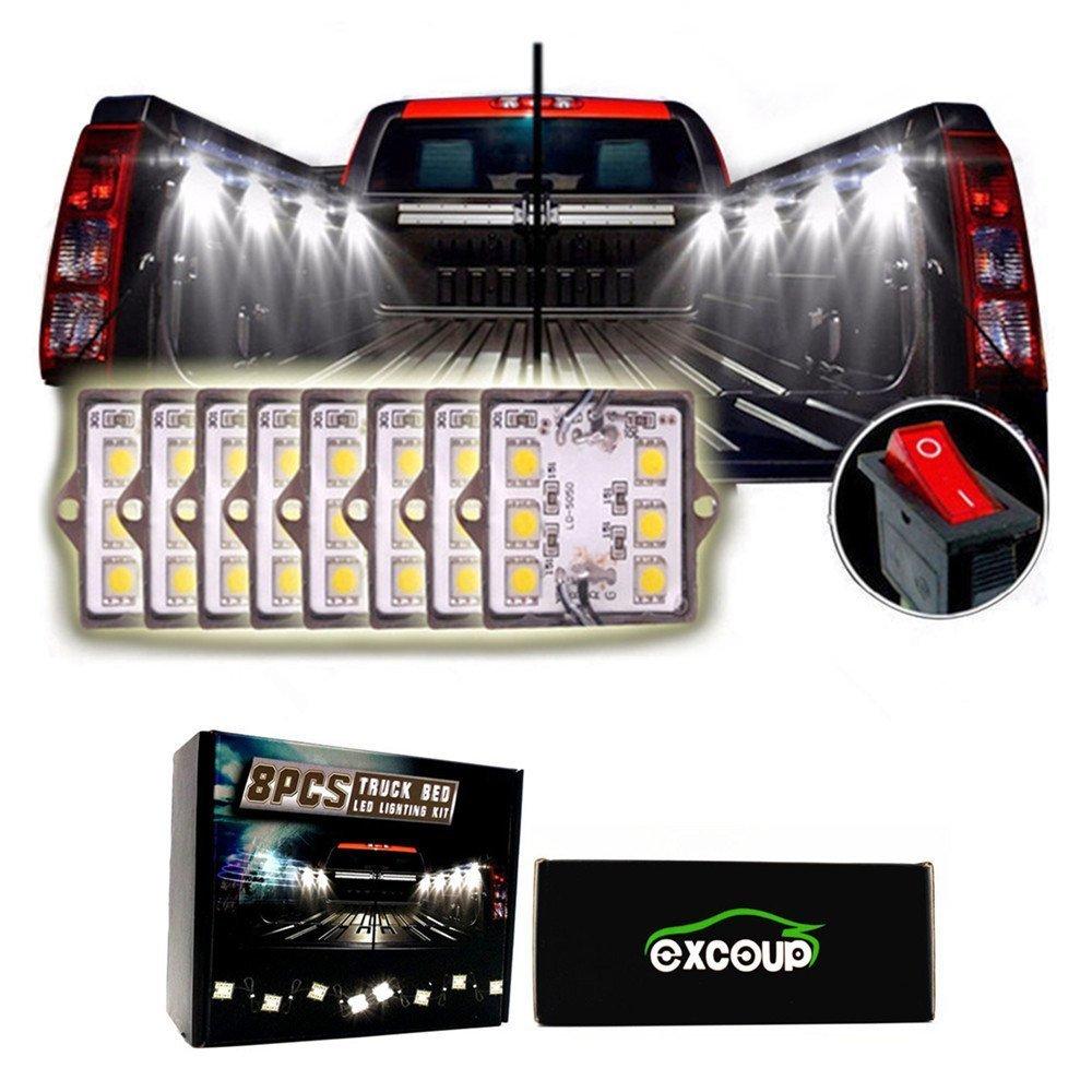 LED Lights for Truck Bed LED Lighting Kit Pickup Bed Lights with 48 Super Bright SMD LEDs Waterproof