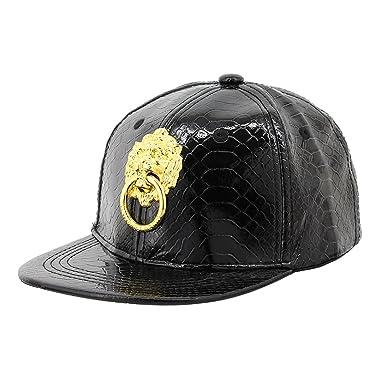 ff7d8ee2a45 90S Unisex Children Adjustable Alligator-Patterned Snapback Hats PU Leather  Baseball Caps Fashional Hip Hop
