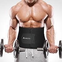 Waist Trimmer Belt, AIWEISI Adjustable Weight Loss Ab Belt Provides Back and Lumbar Support for Men and Women
