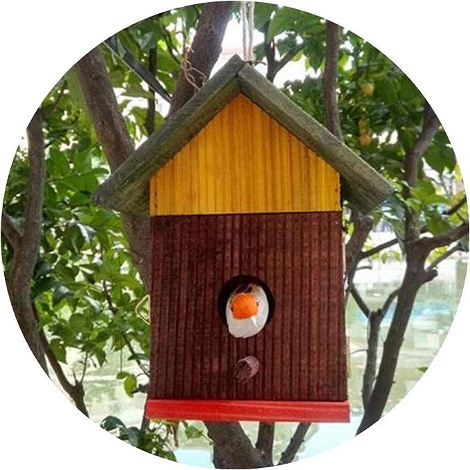Las jaulas de aves para Budgie y varios pequeños Bird La jaula de pájaro de una puerta exterior Diseño casa del pájaro de madera resistente al agua Birdhouse alimentos for mascotas Aves Cuidado La vid