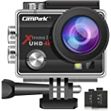 Campark ACT74 Action Camera 4K Ultra HD 170° Adjustable Wide-Angle WiFi Underwater Waterproof Camcorder with 2 Batteries and Mounting Accessories Kits