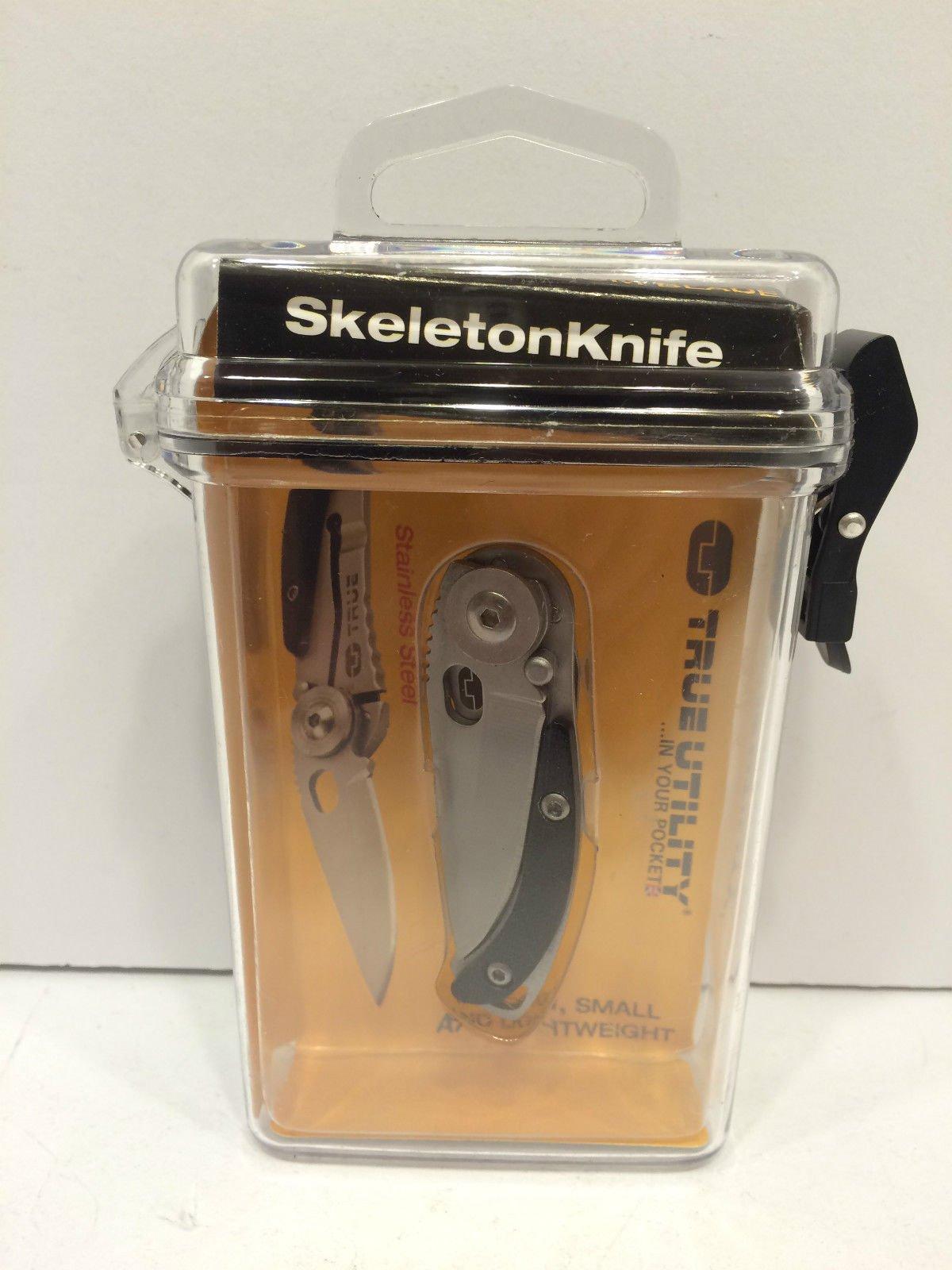 True Utility TU571 Skeleton Knife Open Frame Lock Knife 4cm ,product_by: paloli1015_12161980113686