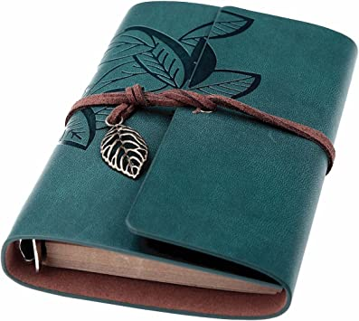 Amazon Com Beyong Leather Writing Journal Refillable Travelers Notebook Men Women Leather Journals To Write In Art Sketchbook Travel Dairy Best Gifts For Teens Girls And Boys Blue 7 Inch