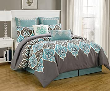 Amazoncom 8 Piece Queen Monte Carlo Bedding Comforter Set Home