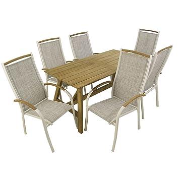 muebles jardín Conjunto para terraza | Mesa Teca Grado A de ...