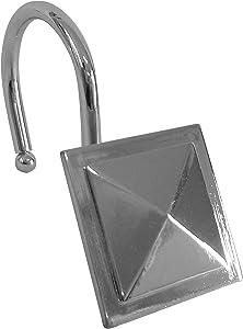 Elegant Home Fashions Square Diamond Shower Rod, Chrome