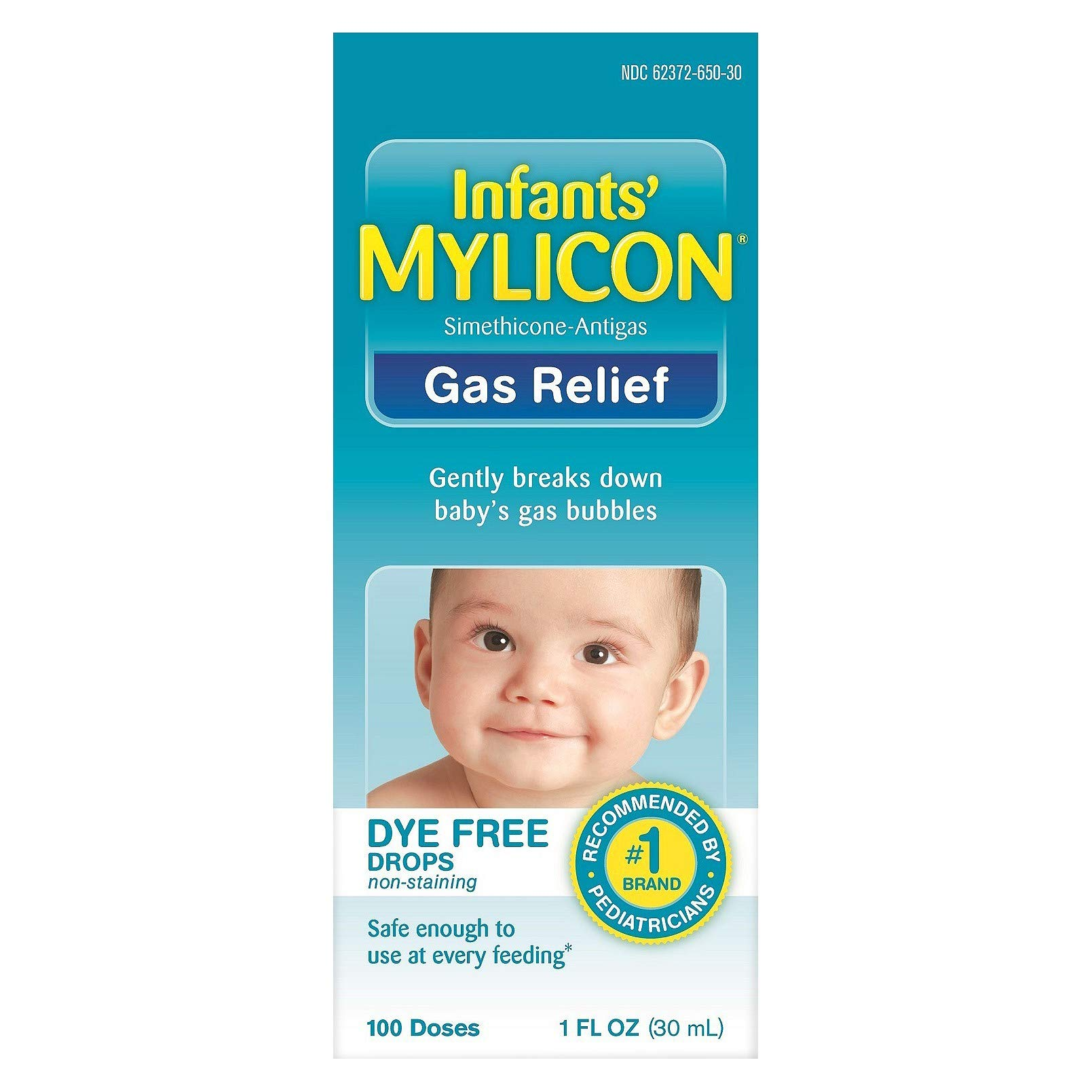 Mylicon Infants' Gas Relief Dye Free Drops - 1 oz, Pack of 3 by Mylicon