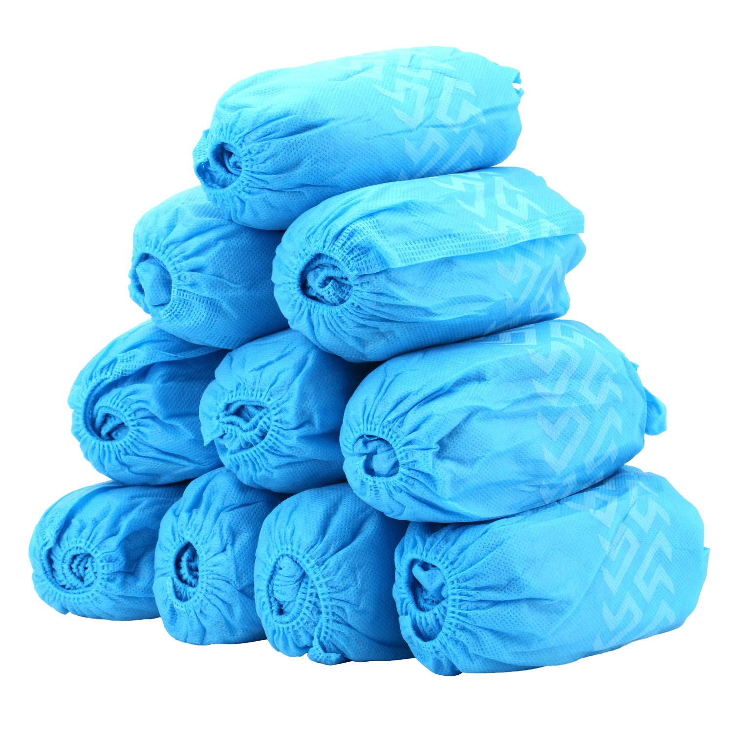 100 Pack Shoe Covers - Disposable Hygienic Boot Cover for Medical, Construction, Workplace, Indoor Carpet Floor Protection - Non-Slip by THETIS Homes