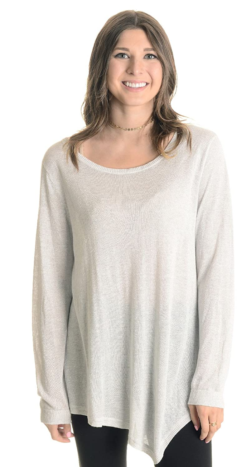 746c47c2d45c45 Amazon.com  Joie Women s Tambrel Metallic Sweater Top in Light Heather  Gray