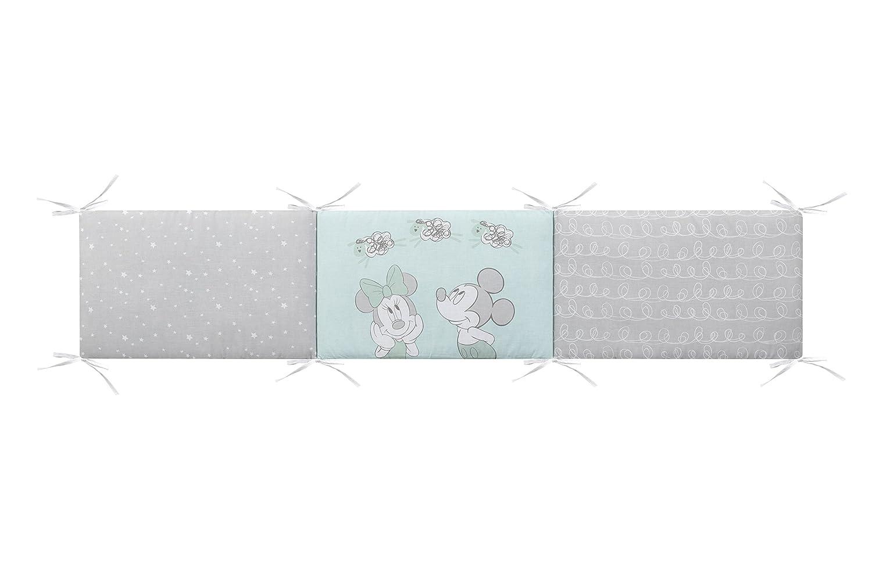 Disney 65360 Edred/ón y protector cuna color agua marino y gris