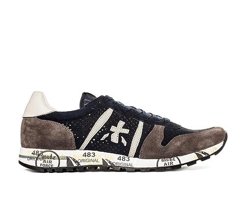 Traforata Premiata Blu Eric Sneaker Primavera Suede Scarpe 3138 Uomo wqHX6rq