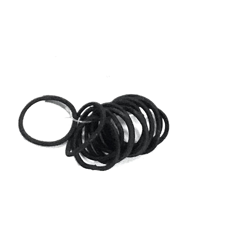 12elastici per capelli piccoli e sottili, privi di placca in metallo, non strappano i capelli, colore: nero molly & Rose