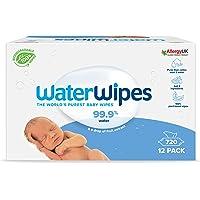 WaterWipes Toallitas de bebé (12 x 60 unidades), las toallitas húmedas más puras para pieles suaves de bebés, toallitas…