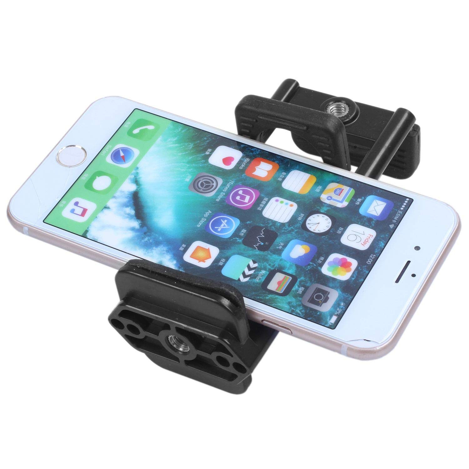 Semoic Universal Tripod Holder Mount Clamp Clip Bracket for Mobile Phone Pad Tablet Camera by Semoic (Image #6)
