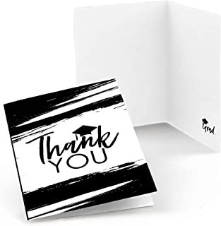product image for Big Dot of Happiness Black and White Grad - Best is Yet to Come - Black and White Graduation Party Thank You Cards (8 Count)