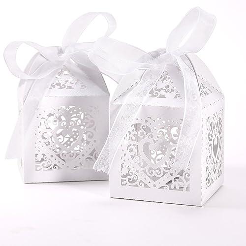 White Favour Boxes Amazoncouk