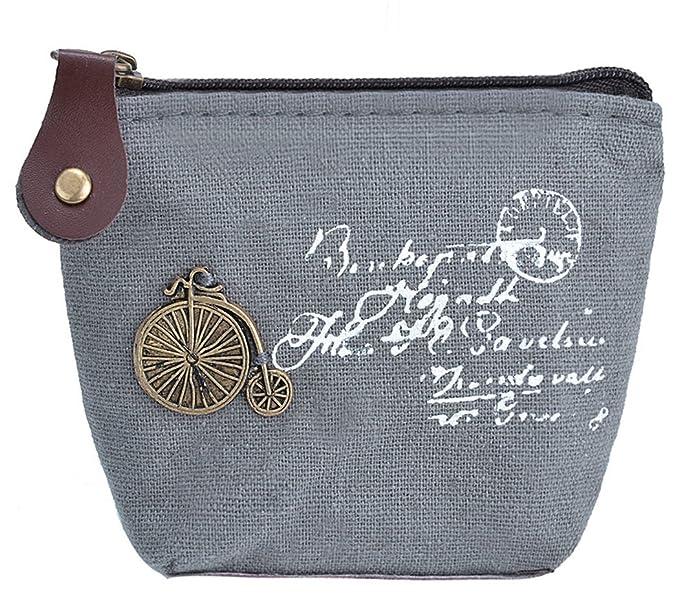 Cartera y monedero Coofit Llavero, diseño de saco, de tela, coin gris small: Amazon.es: Ropa y accesorios