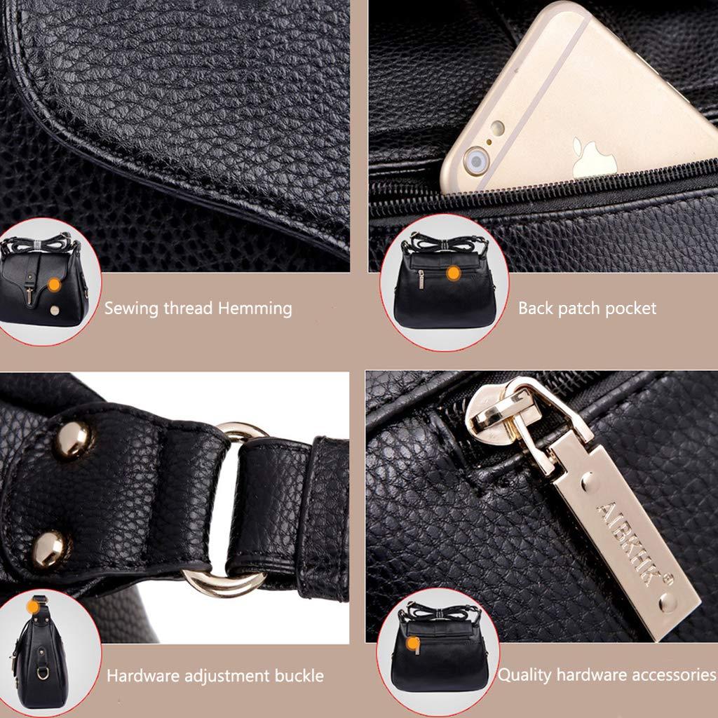 GYPING Kvinnor crossbody mode telefon handväska skolväska kohud axelväska arbete shopping resa messengerväska, svart BLÅ