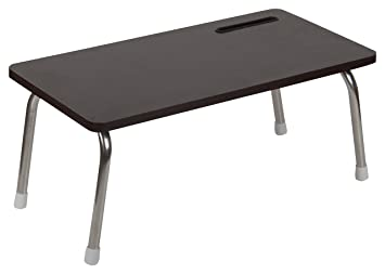 AC Homes Foldable Table With Inbuilt Mobile Stand, Walnut