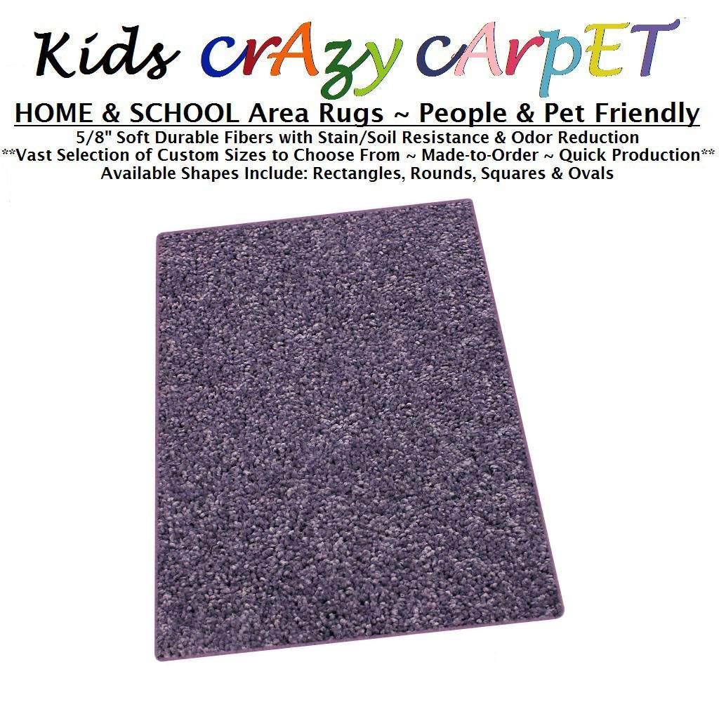 Runner 2.5'x9' - Misty Lilac ~ Kids Crazy Carpet Home & School Area Rugs | People & Pet Friendly – R2X Stain Resistance & Odor Reduction