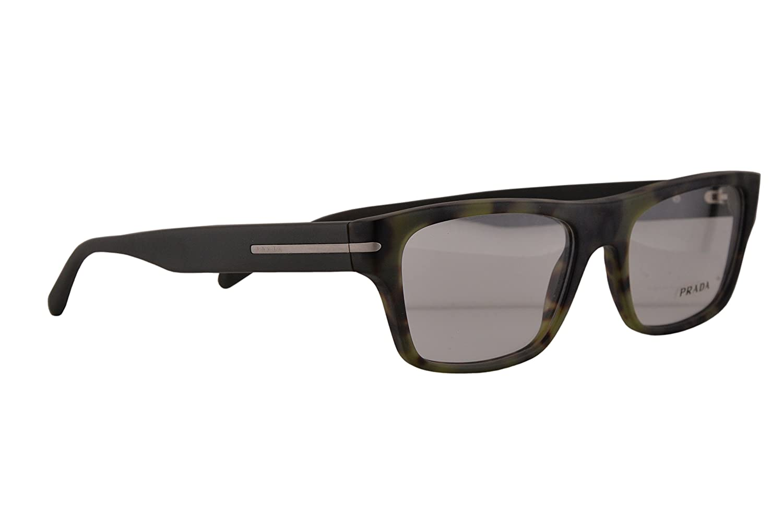 0b036a745f0 Prada PR18RV Eyeglasses 55-18-140 Matte Green Havana NAJ1O1 VPR18R For  Women (FRAME ONLY)  Amazon.co.uk  Clothing