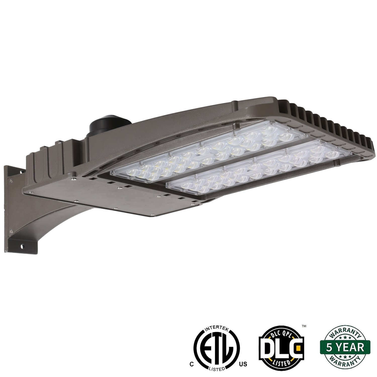 Hykolity 150W LED Shoebox Outdoor Commerical Pole Light Weatherpoof Area Parking Lot Security Lighting Fixture [450W Equivalent] Super Bright 18700lm 5700K Arm Mounted DLC and ETL Listed